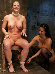 Part 14 of Decembers live show with Holly heartA back arching, pussy destroying tie from hell.