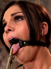 Bound in a chair with a vibrator perfectly stuck on her clitLets just watch her suffer and cum