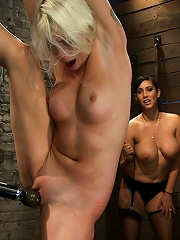 We yank a leg up, cane herthen make her cum until shes totally physically & emotionally wrecked