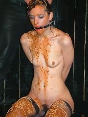 Messy food humiliation